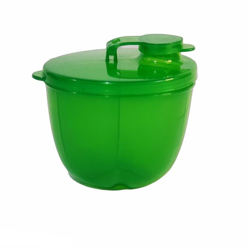 3 Compartment Powder Formula Dispenser Green