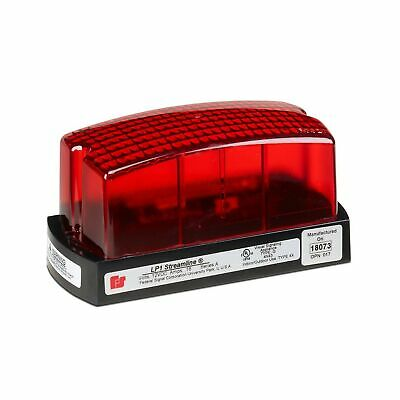 Federal Signal Lp1-024r Streamline Low Profile Mini Strobe Light Surface Mou...