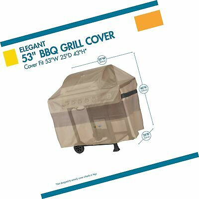 Duck Covers Elegant Waterproof 51 Inch BBQ Grill Cover 53L X 25D X 43H - $56.99