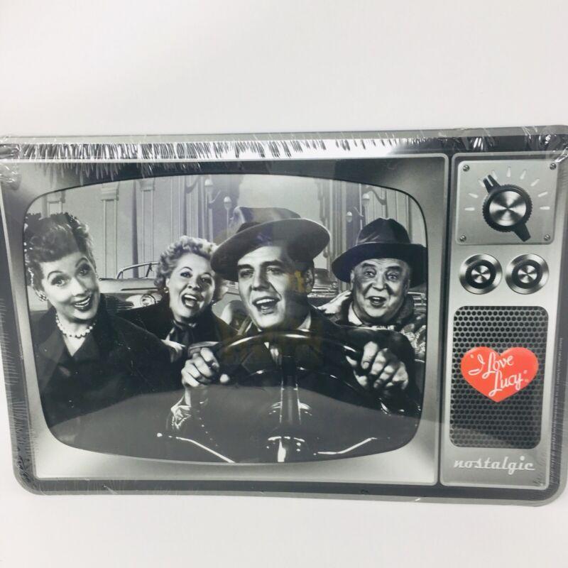 "I Love Lucy Nostalgic Tin Metal Sign- 13"" X 8 1/2""-New"