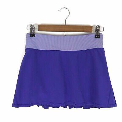 Lululemon Run Womens Pace Setter Skirt Size 2 Purple Bruised Berry Wee Stripe