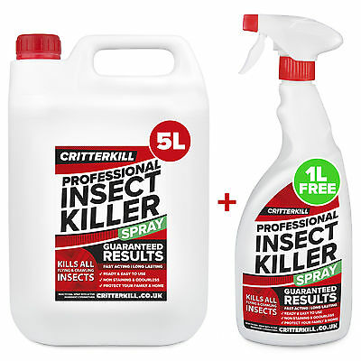 6L STRONG INSECT KILLER SPRAY PEST INSECTICIDE BED BUG KILLER - PROFESSIONAL