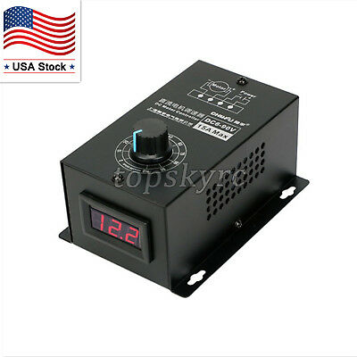 Dc Motor Speed Regulator 6v-90v Pwm Module Digital Controller Switch Display Us