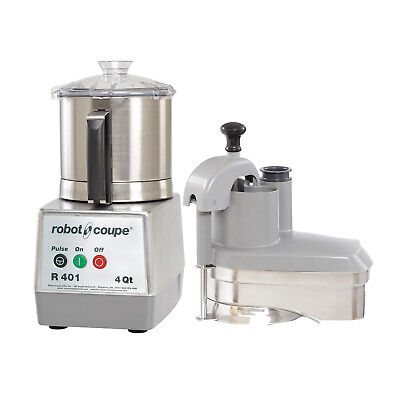 Robot Coupe R401 Combination Continuous Feed Food Processor 4.5 Qt Ss