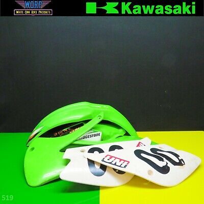 KX100 KX85 Plastics Kit 1-13 Radiator Shroud Front Rear Back Fender Number Plate