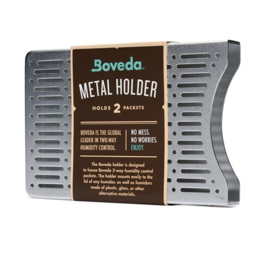Boveda Aluminum Holder for Humidor | Use with Two (2) Size 60 Boveda | 1-Count