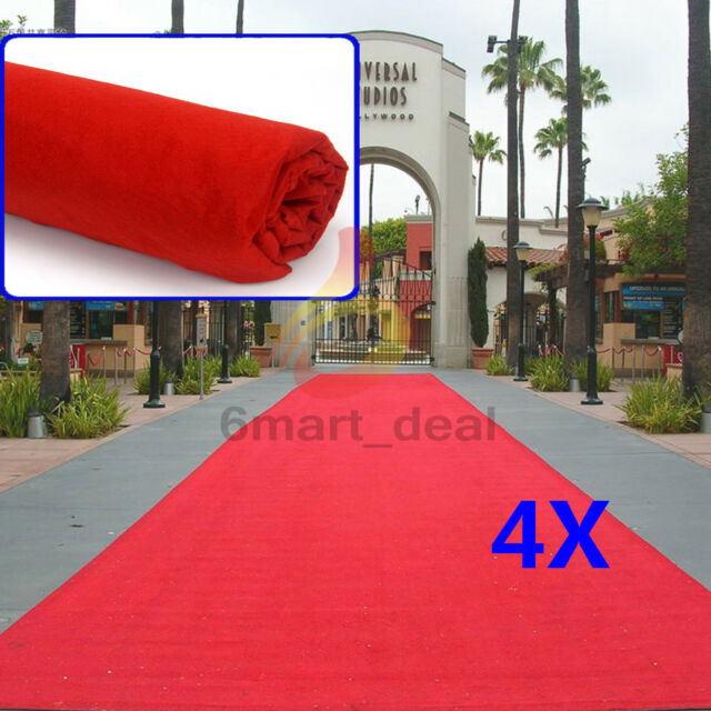 4x Red Carpet Runner Hollywood Awards Night Casino Wedding Decoration Party 5*1m