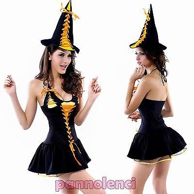 Traje Disfraz de Carnaval Mujer Sexy Bruja Burlesque Halloween Mujer Dl-614 (Trajes De Brujas De Halloween)