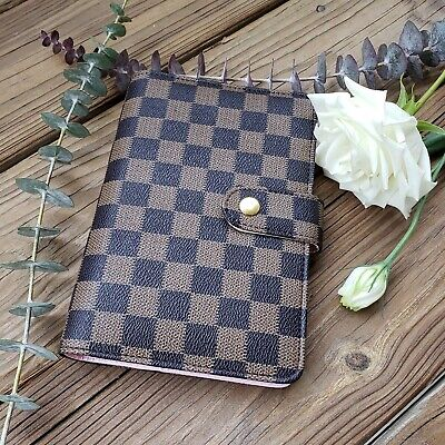 A6 Medium Agenda Planner Organizer Brown And Black Grid