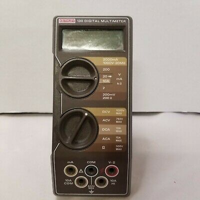 Vintage Keithley Model 130 Digital Multimeter With Original Leads
