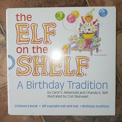NEW Set The Elf on the Shelf A Birthday Tradition Book & Elf Cupcake Outfit