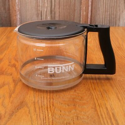 Bunn 10 Cup Glass Replacement Carafe Pot For Coffee Maker Black Lid Handle Bunn Coffee Makers Black Handle