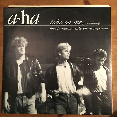 """a-ha – Take On Me (Extended Version) 12"""" Black & white sleeve issue"""