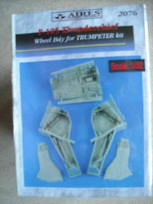 Aires 1/32 2076 F-105 Thunderchief Wheel Bay Set for Trumpeter Kit