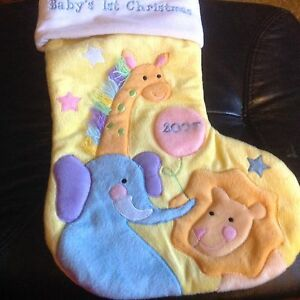 Baby's first Christmas 2007 Christmas stocking. NEW. Nic's gifts Mount Waverley Monash Area Preview