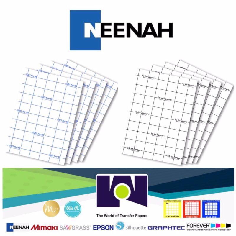 "Neenah COMBO 3G Jet Opaque & Jet Pro Heat Transfer Papers 11x17"" (100 Sh Each)"