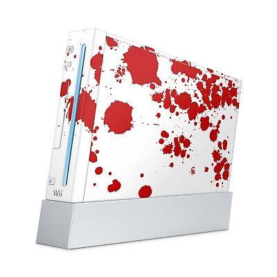 Nintendo Wii Aufkleber Skin Klebefolie Schutzfolie Vinyl Folie Sticker Blood ()