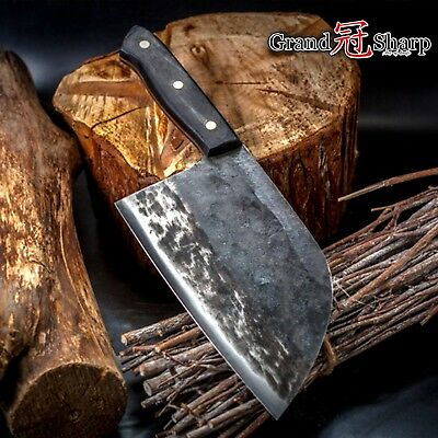Handmade Chef Knife Chinese Forged Cleaver Meat Vegetables Chinese Kitchen Tools
