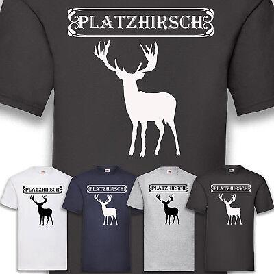 Kostüm Karneval Fasching Platzhirsch Herren T-Shirt Funshirt Shirt Party S-5XL