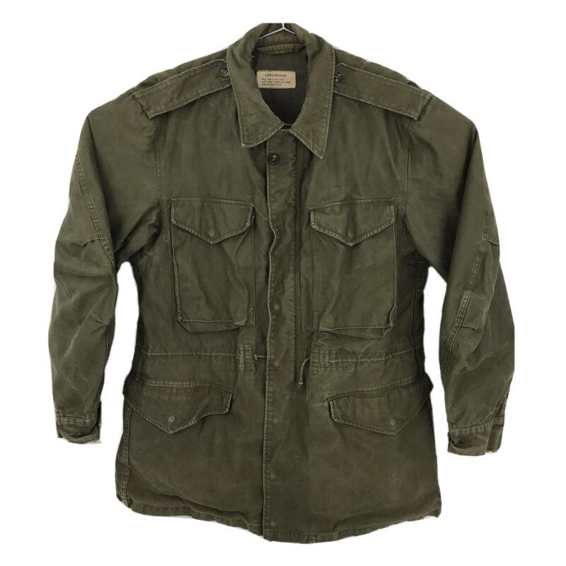 Mens Long Medium M51 Military Field Jacket Army Green Korean War M-1951 NO LINER