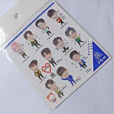 Wanna one Transparent Sticker Photo Produce101 1st Album Photocard K-pop Poster