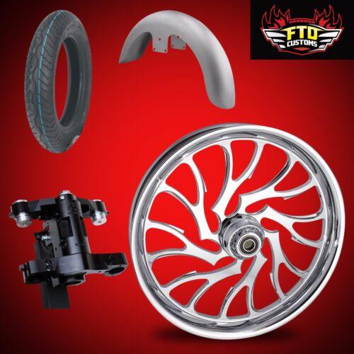 """Harley 26 Inch Big Wheel Builders Kit, Wheel, Tire, Neck, & Fender  """"nightmare"""""""