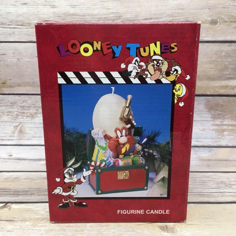#B Matrix 1996 Yosemite Sam Looney Tunes Christmas Figurine Candle
