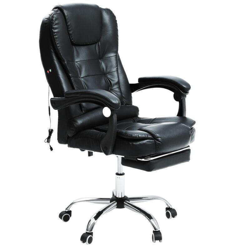 Massage Chefsessel Schreibtischstuhl Drehstuhl Kunstleder Drehstühle im Büro