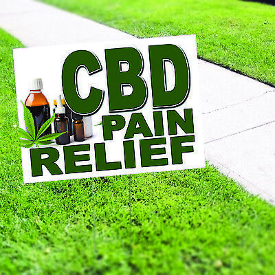 Cbd Pain Relief Included Lawn H-stake For Rent Open House Estate Sale Yard Sign