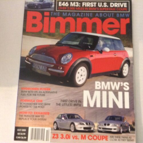 Bimmers BMW Magazine BMW's Mini Z3 Vs M Coupe October 2001 052617nonrh2