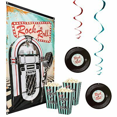 1950s 50s 40s Rock n Roll King Wedding Party Decorations Festival - 1950 Party Decorations