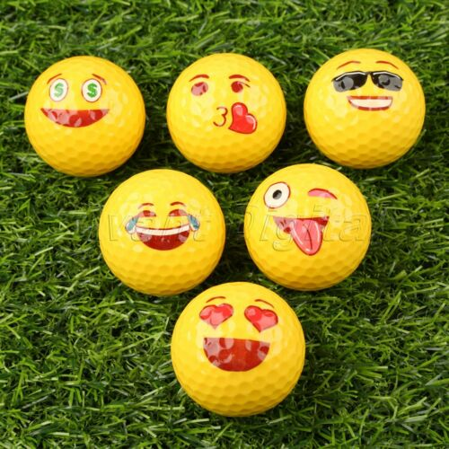 Yellow Lovely Emoji Practice Golf Balls Toy Kids Gifts for O