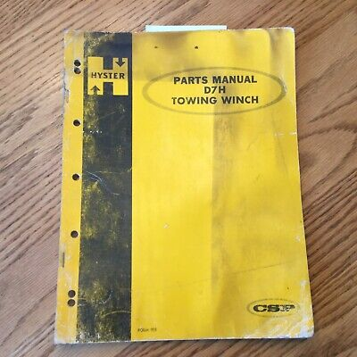Hyster D7h Towing Winch Parts Book Catalog List Manual Guide For Cat Tractor