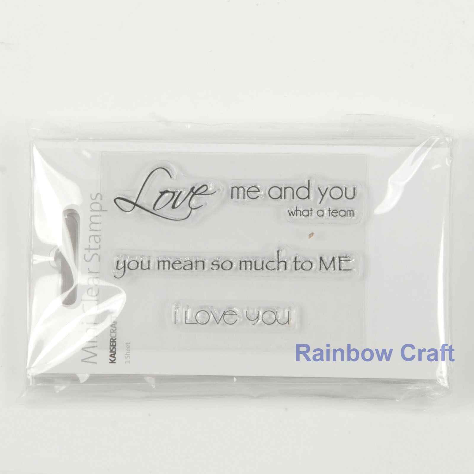 Kaisercraft mini stamps - 26 wording / patterns Scrapbooking card making - Love me and you