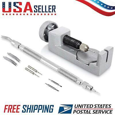 Metal Adjustable Band Watch Strap Bracelet Link Pin Remover Repair Tool Kit Set