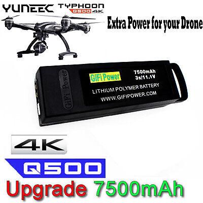7500mAh 11.1V 3S Flight Lipo Battery For Yuneec Q500 4K Typhoon G RC Drone