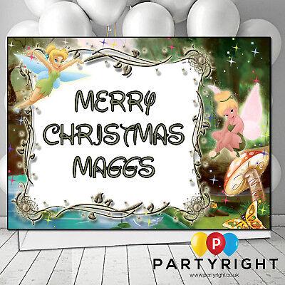Personalised Tinkerbell Birthday Christmas Card Large A5 - Tinkerbell Christmas Cards