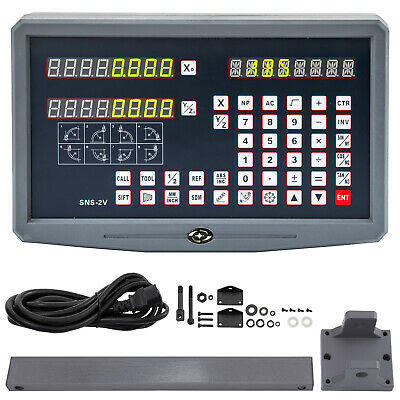2 Axis Digital Readout Display Lathe Machine Grinding Drilling Linear Encoder