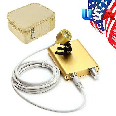 Usa Yellow Dental Led Head Light Lamp For Dental Surgical Loupes Box Case Set