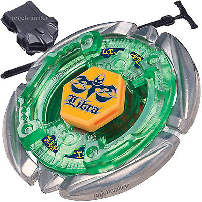 Flame Libra T125 Metal Fusion 4D Beyblade STARTER SET w/ Launcher & (Fire Car Games)