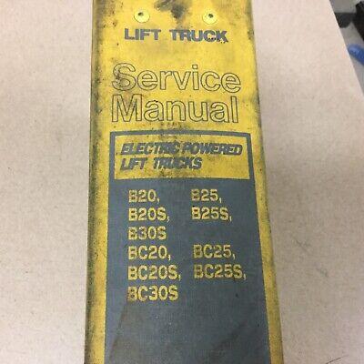 Daewoo Bbc20s530s Service Shop Repair Manual Electric Fork Lift Truck Guide