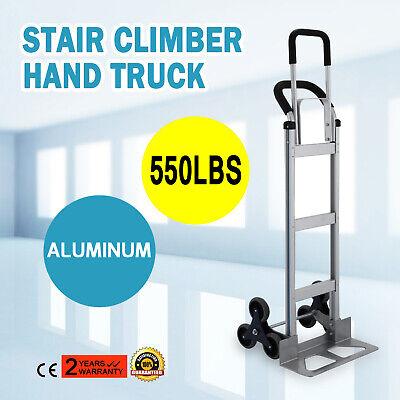 2 In 1 Folding Aluminum Hand Truck Stair Climber Hand Truck 550lbs Cart Dolly