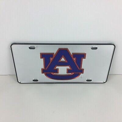 - Auburn Tigers Logo Mirror Acrylic Car Tag License Plate - Color Silver