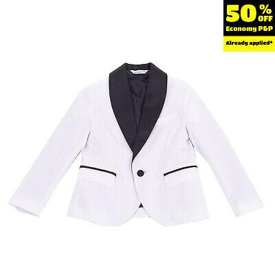 RRP €210 MANUEL RITZ Tuxedo Blazer Jacket Size 8Y Shawl Lapel Made in Italy
