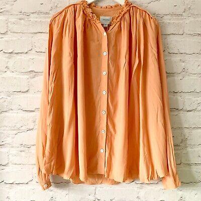JOVONNA London Shirt Size UK 8 Peach ORANGE | NEW Blouse Work Office Oversized