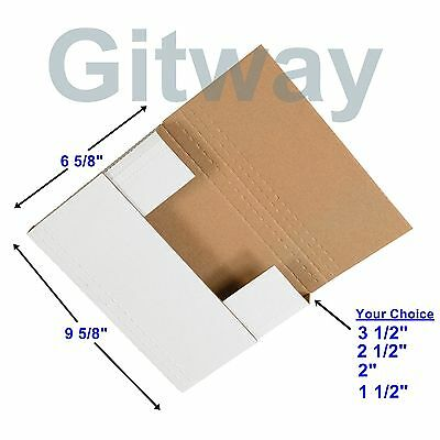 50 - 9 58 X 6 58 X 3 12 Multi Depth Cardboard Book Mailer Shipping Box Boxes