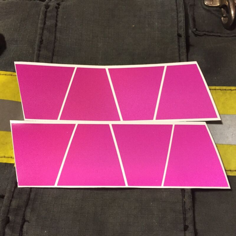 FIREFIGHTER HELMET TETS 8 PACK TETRAHEDRONS FIRE HELMET STICKER - PINK