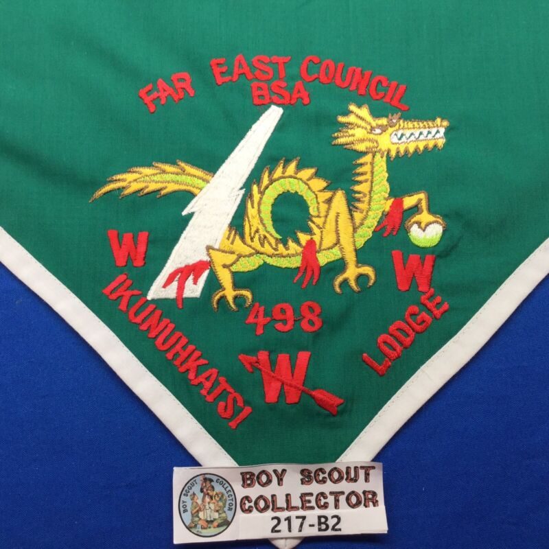 Boy Scout OA Ikunuhkatsi Lodge 498 N1 First Neckerchief Far East Council