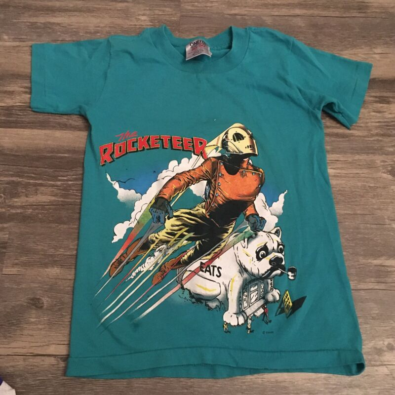Kids Vintage Disney Tee Shirt The Rocketeer 10-12