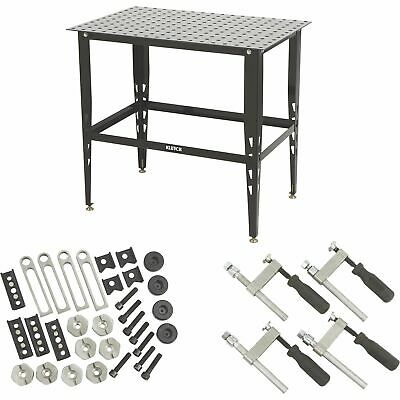 Klutch Steel Welding Table With Tool Kit - 36in.l X 24in.w X 33 14in.h